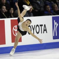 Kaori Sakamoto, who finished sixth at the Pyeongchang Olympics, came in second at Skate America on Sunday for the second consecutive year. AP | AP