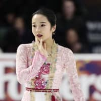 Marin Honda struggled in her free skate at Skate America on Sunday and finished in eighth place. KYODO