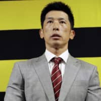 Akihiro Yano, who will become Hanshin's top team manager in 2019, speaks to the media at the team's office in Nishinomiya, Hyogo Prefecture. | KYODO