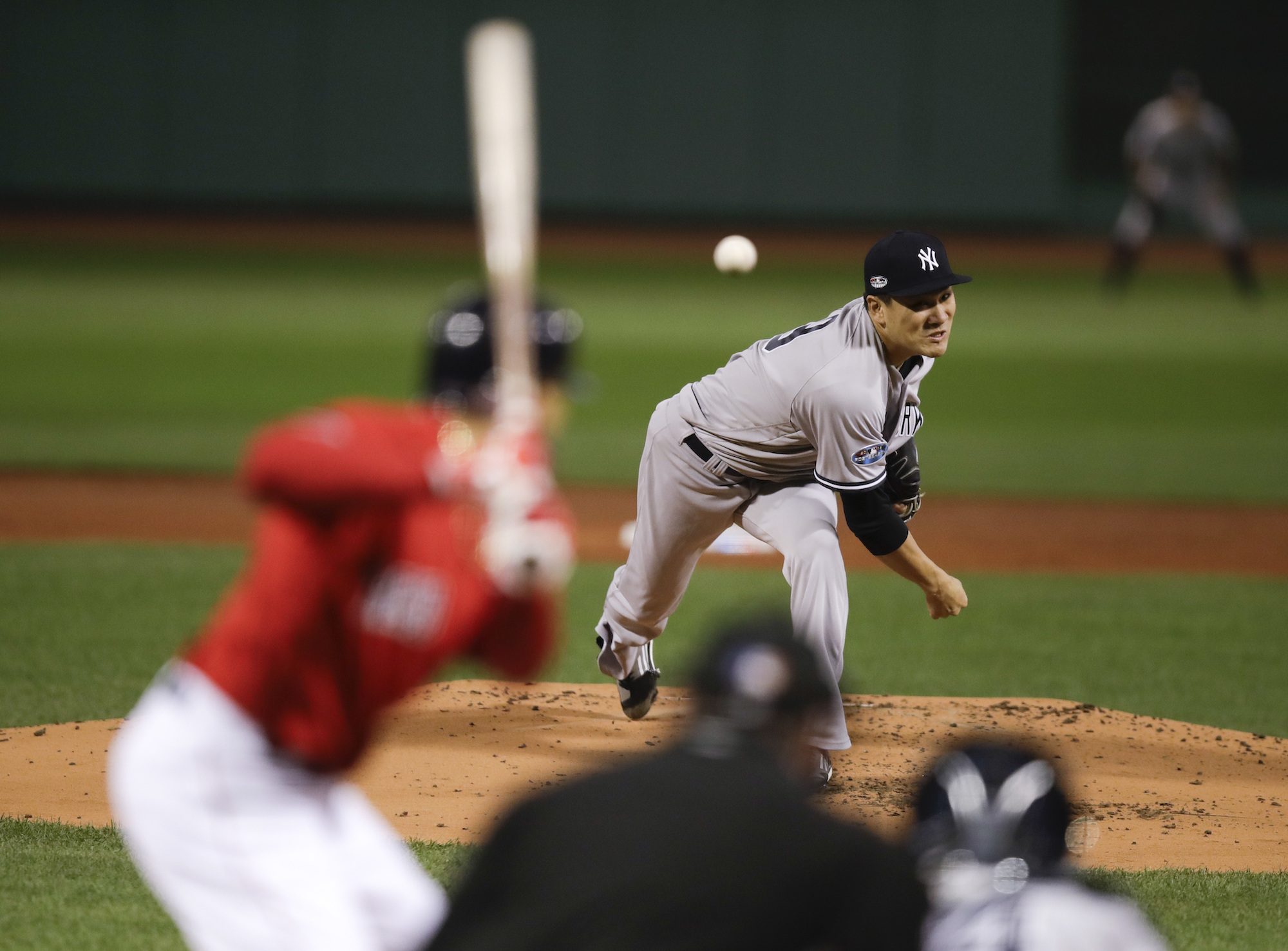 Yankees pitcher Masahiro Tanaka allowed one run over five innings during Game 2 of the ALDS against the Red Sox on Saturday at Fenway Park in Boston.  | AP