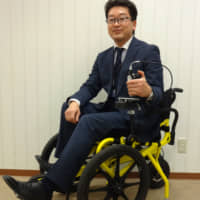 Despite ups and downs, designer and former teacher Kenji Suzuki is making pedal-powered Cogy wheelchairs a reality