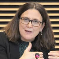 EU trade commissioner expresses support for Japan's goal to reform WTO