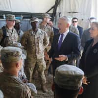 Jim Mattis defends Mexico border deployment in first troop visit amid outcry over alleged political stunt
