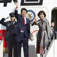 Talks with Trump, Putin and Xi on Abe's schedule as he departs for G20 summit in Buenos Aires