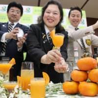 Don't eat Jiro persimmons, drink them, town in Mie urges