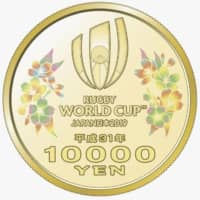 Japan to issue coins commemorating 2019 Rugby World Cup
