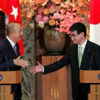 Japanese Foreign Minister Taro Kono thanks Turkish counterpart over release of journalist Jumpei Yasuda