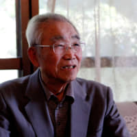 Former Ikata Mayor Kiyokichi Nakamoto speaks during an interview in the town on Oct. 3. | REUTERS