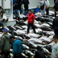 Workers complain of unbearable foul smells at new Toyosu market