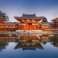 The Phoenix Hall: Byodoin was originally built as a country villa for courtier Minamoto no Shigenobu in 998 and was converted into a temple in the late Heian period (794-1185). | GETTY IMAGES