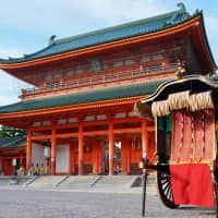 Spot the Heian Era: After years of war, city-wide fires and development, there is little that remains of old Heian-kyo (present-day Kyoto). Heian Jingu was constructed in the late 19th century to celebrate the 1,100th anniversary since the founding of Heian-kyo. | KATHERINE WHATLEY