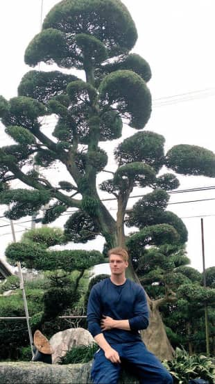Branching out: Tatsumasa Murasame found landscaping to be the thing that helped him connect with traditional Japanese culture.
