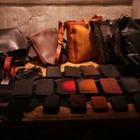 Heavy leather: A collection of bags, wallets and belts at leather store Isamu Katayama  Backlash.   KIT NAGAMURA