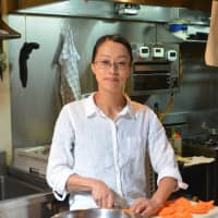 Francophile: Chef Mizuho Takemura trained at the Tsuji Culinary Insitute in Osaka before moving to France's Burgundy region to continue her culinary education. She now runs A Peu Pres in Kyoto. | J.J. O'DONOGHUE