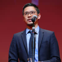 Diamond in the rough: Seiji Tanaka accepts the Japanese Cinema Splash section award for best director for his film 'Melancholic' at this year's Tokyo International Film Festival. | © 2018 TIFF