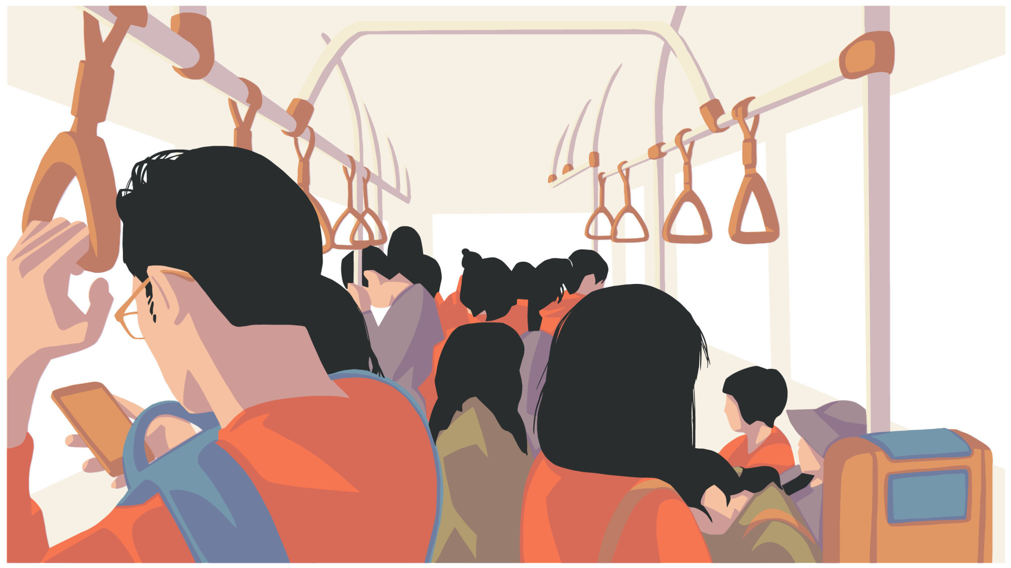 Ticket to ride: Mornings on a crowded train are never fun. After working from home, though, our writer feels less alienated thanks to the rush.   GETTY IMAGES