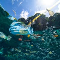 Plastic debris floats on the ocean surface.  Last month scientists announced the first evidence that small bits of plastic are getting into humans, but they don't yet know how. | GETTY IMAGES