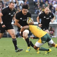 The All Blacks will play with their second team when they take on Japan on Saturday at Ajinomoto Stadium. | AFP-JIJI