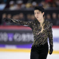 Yuzuru Hanyu is sidelined with an ankle injury sustained at the Cup of Russia. | REUTERS