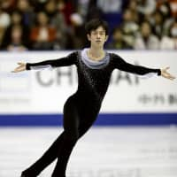 Sota Yamamoto received 74.98 points for his short program. He is in sixth place entering Saturday's free skate. | KYODO