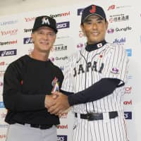 Team USA manager Don Mattingly (left) and Samurai Japan skipper Atsunori Inaba lead their teams into the Japan All-Star Series, which starts on Friday at Tokyo Dome. | KYODO