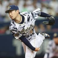 Buffaloes ace Chihiro Kaneko is set to become a free agent after failing to reach a deal with the club. | KYODO
