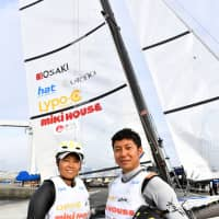Kajimoto (left) and Kawata have known each other since they were children and paired up in 2016 to aim for a spot in the 2020 Olympics. | YOSHIAKI MIURA