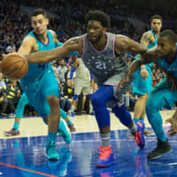 Sixers' Joel Embiid finishes with 42 points, 18 rebounds in OT triumph over Hornets