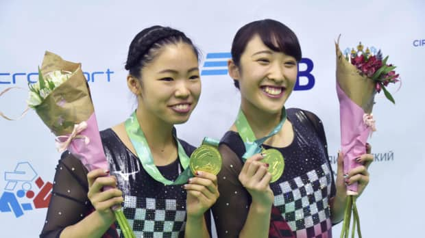 Hikaru Mori, Megu Uyama become first Japanese women to take gold at trampoline world championships