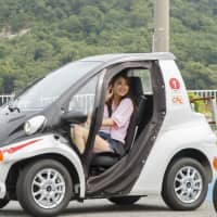 GEOCOMS, the first ultra-small electric vehicle for tourism in Japan