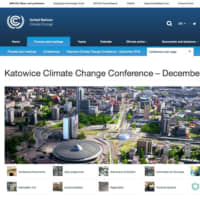 The website of the United Nations Framework Convention on Climate Change on COP24.   UNFCCC.INT/KATOWICE