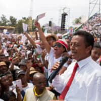 Madagascan President Hery Rajaonarimampianina concedes defeat in election, appeals for calm