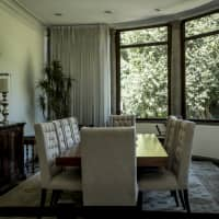 A room is seen in the Lazaro Cardenas house at Los Pinos, the former official residence of the president of Mexico, in Mexico City on Saturday. | BLOOMBERG