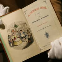 This 1843 first edition of Charles Dickens' 'A Christmas Carol' was auctioned by Sotheby's in London in 2006. | BLOOMBERG