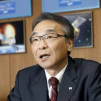 Hitoshi Kuninaka, one of the Japan Aerospace Exploration Agency's vice presidents, during an interview at the Institute of Space and Astronautical Science in Sagamihara, Kanagawa Prefecture, on Nov. 2, 2018. | KYODO