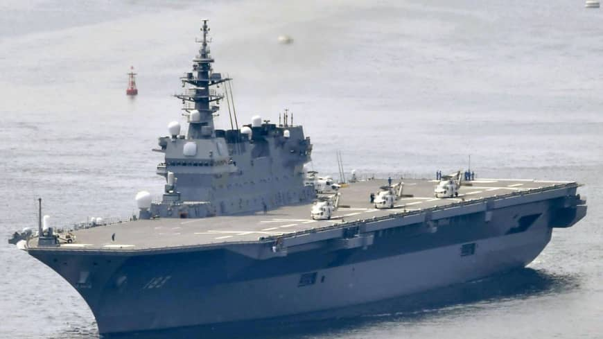 Japan defense plan calls for aircraft carriers at sea and vigilance in space and cyberspace