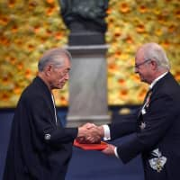 Receiving Nobel for medicine, Japan's Tasuku Honjo expresses hopes for wider use of cancer treatment