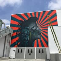 Removal of Rising Sun-like mural in LA put on hold following protests