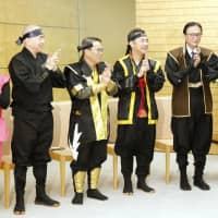 Ninja-clad petitioners 'sneak' into Abe's office seeking help with tourism promotion