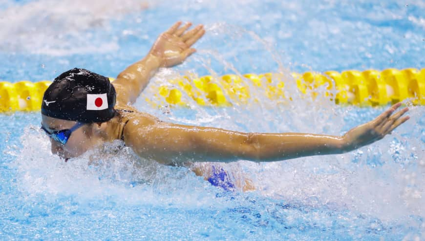 Swimmer Rikako Ikee competes during the Asian Games in Jakarta in August.
