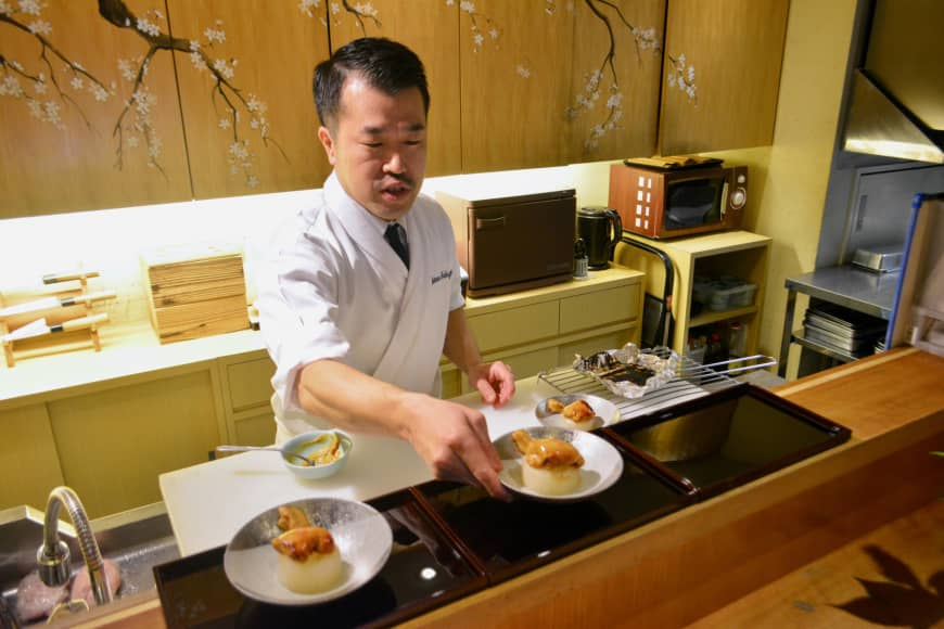 Restaurant dreams: Chef Tsutomu Nakajima says ideas for new recipes come to him in his sleep. | J.J. O'DONOGHUE