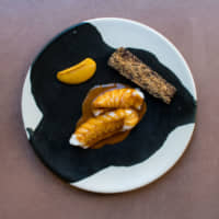 West African food for a global audience: Monkfish, banga and citrus asaro | SAM GILLESPIE