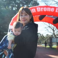 Mai Shiraishi was one of only two women in the field of 62 pilots in the Japan Drone League's 2018 season sixth round in October.   MARK THOMPSON