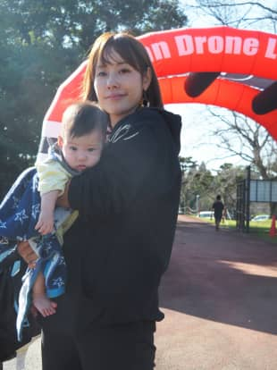 Mai Shiraishi was one of only two women in the field of 62 pilots in the Japan Drone League