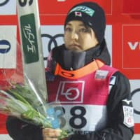 Sara Takanashi is seen after finishing third in a World Cup ski jumping event on Friday in Lillehammer Norway. | KYODO