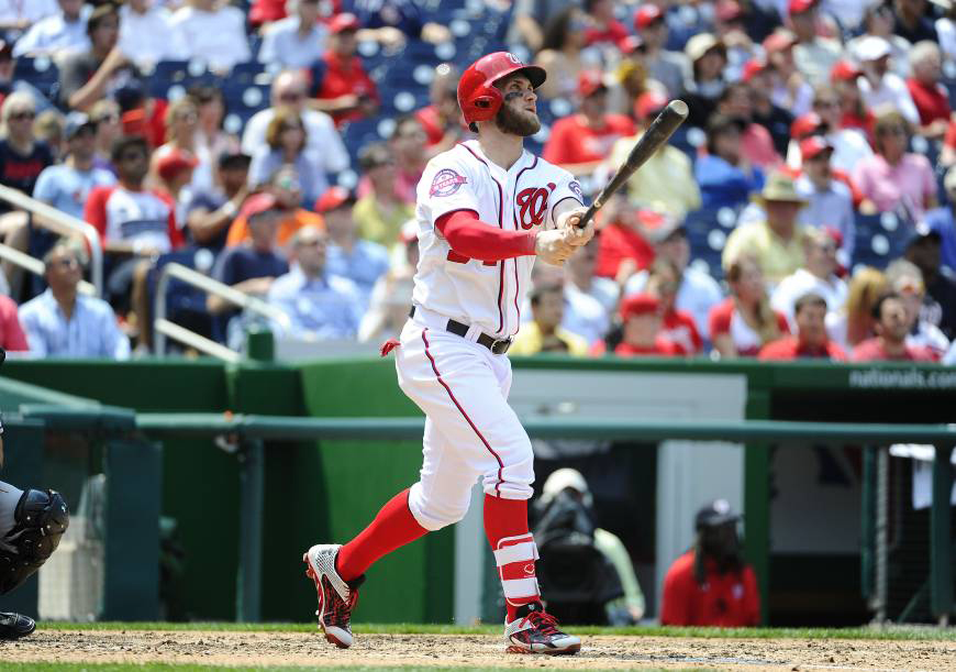 Washington Nationals owner Mark Lerner said Friday he does not expect star free agent Bryce Harper to return to the team. | USA TODAY / VIA REUTERS