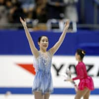 Mai Mihara missed the podium with 220.80 total points despite the third-best free skate at 147.92. | KYODO
