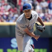 Cubs hurler Yu Darvish landed on the disabled list in May and finished the season with a 1-3 record. | KYODO