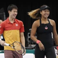 Naomi Osaka and Kei Nishikori were Japan's top two players on the tennis court in 2018. Osaka claimed her first Grand Slam at the U.S. Open in September, while Nishikori reached three finals and finished the season ranked ninth in the world rankings. | KYODO