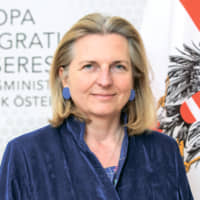 Karin KneisslAustrian Minister of Europe Integration and Foreign Affairs | © MINISTRY OF FOREIGN AFFAIRS